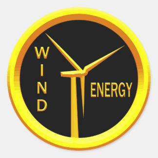 Wind Energy Classic Round Sticker