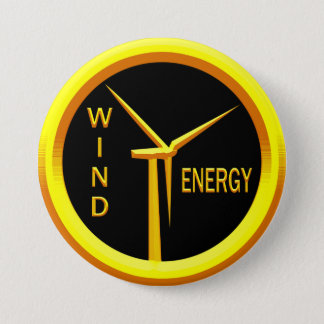 Wind Energy Pinback Button