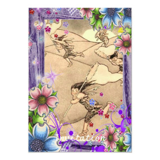 Wind fairies With Flowers Card