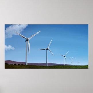 Wind Farm - 18x34 Green Power Poster Prints