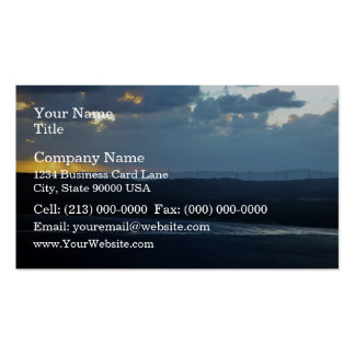 Wind-farm against the sunset business card template