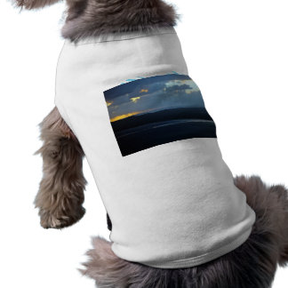Wind-farm against the sunset pet tshirt