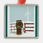 Wind farm Christmas Ornament