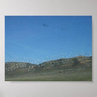 Wind Farm in California Poster