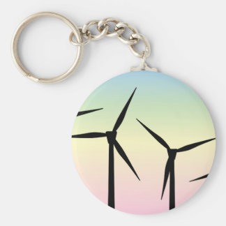 Wind Farm Morning Keychain