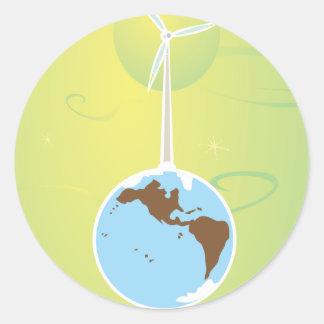 Wind farm round stickers