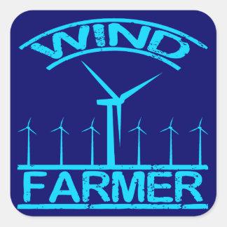 Wind Farmer Square Sticker