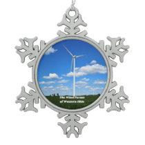 Wind Farms of Ohio Christmas Ornament