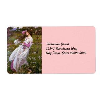 Wind Flowers in the Meadow Custom Shipping Label