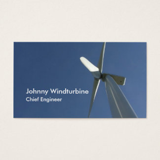 Wind generators blades from underneath business card