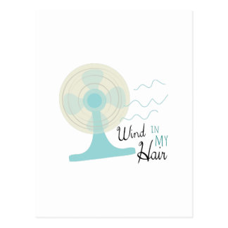 Wind In My Hair Postcard