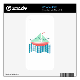 Wind In My Sails Decals For The iPhone 4S