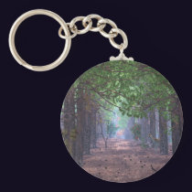 Wind in the Pines Keychain