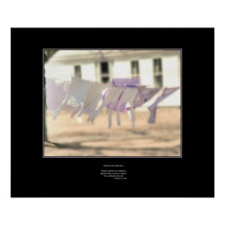 Wind in the Washline - Haiku Poster