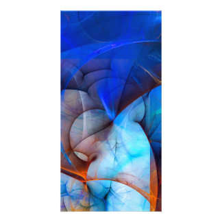 Wind in your sails - colorful digital abstract art card