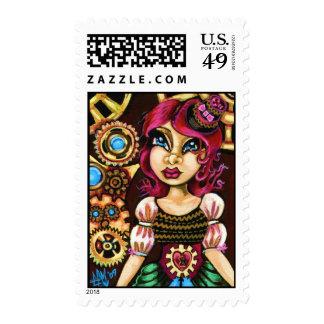 Wind It Up Steampunk Stamp