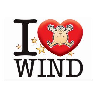 Wind Love Man Large Business Card