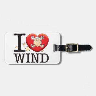 Wind Love Man Luggage Tag