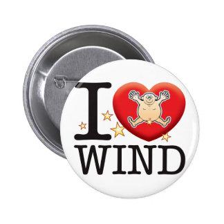Wind Love Man Pinback Button