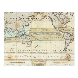 Wind Map of Earth Postcard