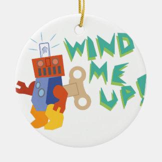 Wind Me Up! Ceramic Ornament