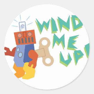 Wind Me Up! Classic Round Sticker