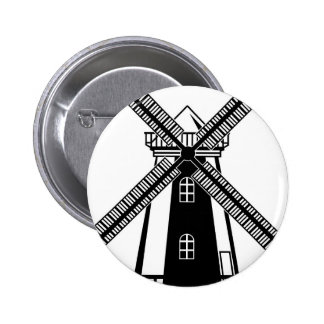 Wind Mill B/W Vector Button