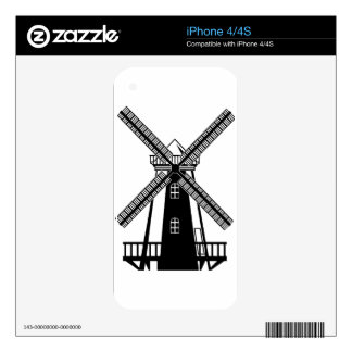 Wind Mill B/W Vector iPhone 4 Skins