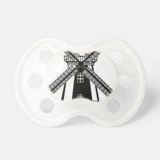 Wind Mill B/W Vector Pacifier