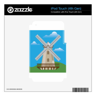 Wind Mill in Color iPod Touch 4G Skin