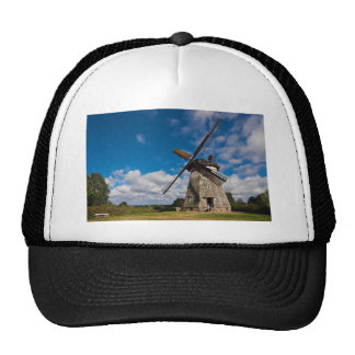 Wind mill with blue sky trucker hat