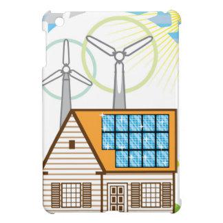 Wind n Solar Small House Vector Eco Energy iPad Mini Cases