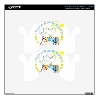 Wind n Solar Small House Vector Eco Energy Skin For PS3 Controller