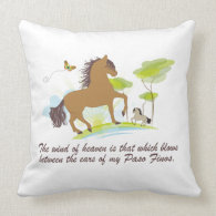 Wind of Heaven - Paso Fino Throw Pillow