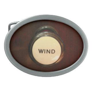 Wind - organists need it oval belt buckle