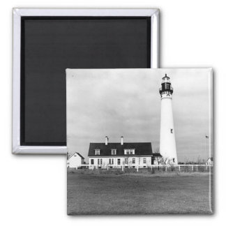 Wind Point Lighthouse 2 Inch Square Magnet