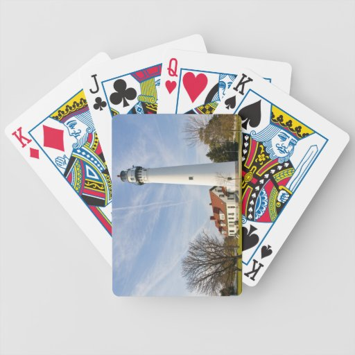 Wind Point Lighthouse Bicycle Playing Cards