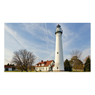 Wind Point Lighthouse Double-Sided Standard Business Cards (Pack Of 100)