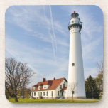 Wind Point Lighthouse Drink Coaster