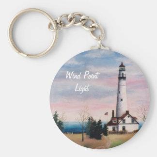 Wind Point Lighthouse Keychain