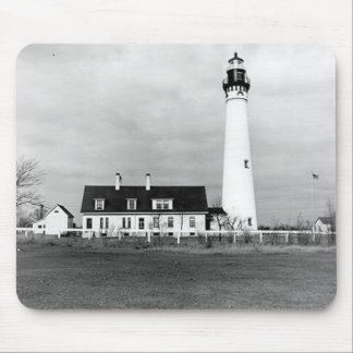 Wind Point Lighthouse Mouse Pad