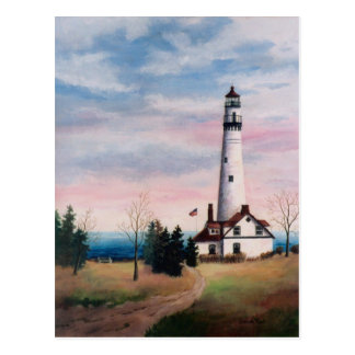 Wind Point Lighthouse Postcard