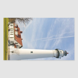 Wind Point Lighthouse Rectangle Stickers