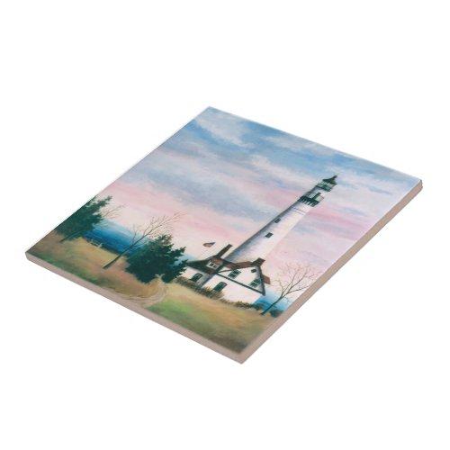 Wind Point Lighthouse Tile