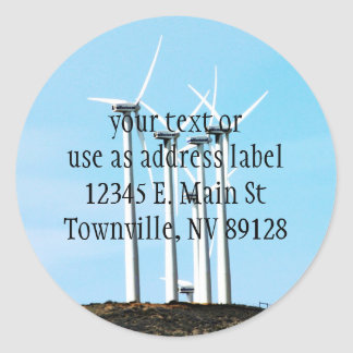 Wind Power (1) Classic Round Sticker