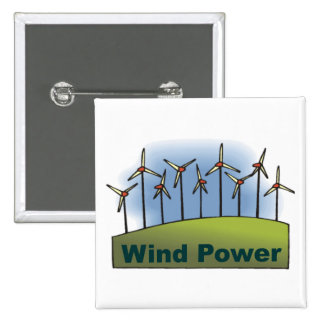 Wind Power 2 Inch Square Button