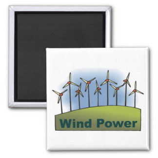Wind Power 2 Inch Square Magnet