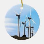 Wind Power 2  Mojave Tehachapi Wind Farm Christmas Ornaments