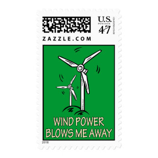Wind Power Blows Me Away Postage