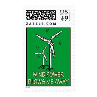 Wind Power Blows Me Away Postage Stamp